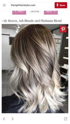 brown, ash blonde and platinum