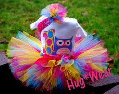 Custom Personalized Owl Birthday Shirt Tutu Outfit any by HugWear