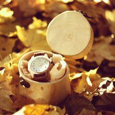 Natural watch, wooden watch. Skowron.