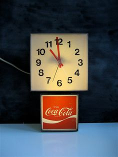 Coca-Cola Clock...I had this clock just like this one on my bedroom wall as a teenage...sold it at a garage sale...wish I had it back!