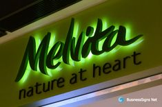 3D LED Backlit Signs With Painted Stainless Steel Letter Shell For Melvita. If you need to custom signs like this, please click the image then fill out the form and tell us your needs now.