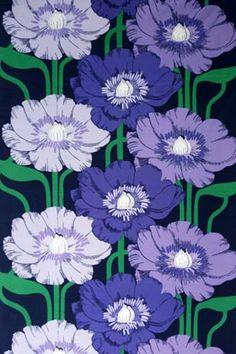 Raili Konttinen 1974-76 Textures Patterns, Print Patterns, Pattern Designs, Vintage Love, Vintage Flowers, Plum Art, Retro Birthday, Betty Boop Cartoon, Tom Of Finland