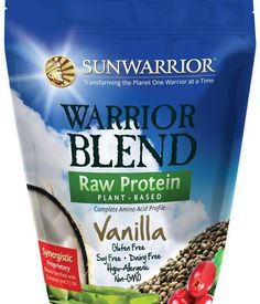Sunwarrior Vanilla Warrior Blend is one of our favourite protein powders in the world! Raw, Vegan and Paleo. A complete protein with all essential amino acids, made from clean protein sources hemp, pea and cranberry. No additives and NO nasties!