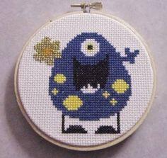 A cute blue monster