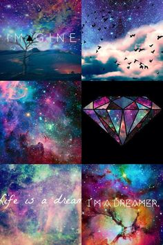 Galaxy tumblr collage