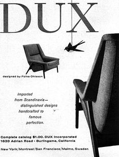 1stdibs.com | Folke Ohlsson lounge chair and ottoman by Dux
