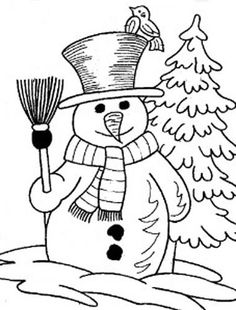 christmas winter coloring pages