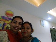 With Usha Gupta