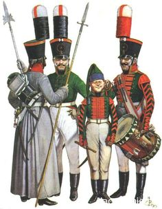 Non-commissioned officers and musicians Foot Guards ( left to right)…