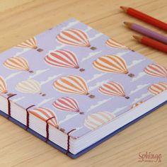 Square journal with coptic stitch / Cuaderno cuadrado con costura copta