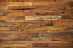 wood panels used as wall via MuralsYourWay.com