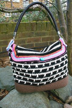 Crochet pattern crochet boho bag pattern purse by LuzPatterns