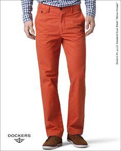 "#Spodnie #Dockers D1 47576 Standard Issue Khaki ""Mecca Orange"""