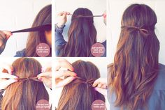 como hacer un lazo con tu cabello .