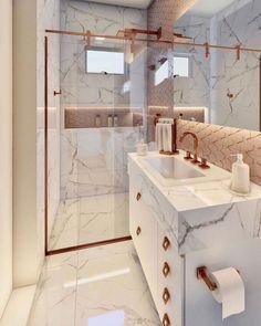 Home Design Decor, Bathroom Interior Design, House Design, Copper Bathroom, Dressing Room Design, Home Office Decor, Home Decor Inspiration, Room Decor, Decoration