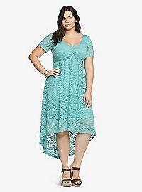 TORRID.COM - Hi-Lo Lace Babydoll Dress