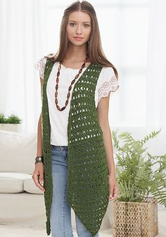 Silver Legacy Vest By Andee Graves - Free Crochet Pattern - (ravelry)