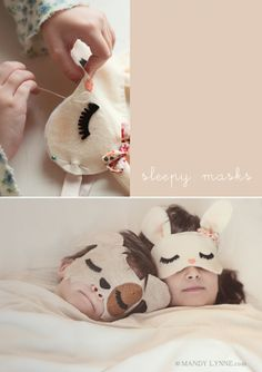 Máscaras infantiles de animales para irse a dormir (o para disfraces caseros)