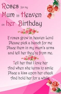 mums birthday in heaven - Google Search