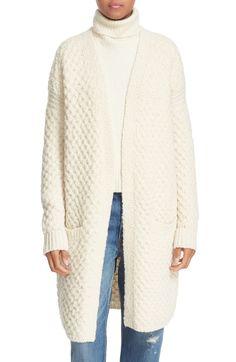 HONEYCOMB WOOL BLEND LONG CARDIGAN #winter #style #dress #trend #onlineshop #shoptagr