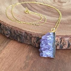 Party sale Amethyst necklace Gold fill chain (30in) with amethyst pendant and Function and Fringe signature feather charm at clasp. Great for layering or stand alone statement. Available choices in last picture. DO NOT PURCHASE LISTING. I will create a new one for you! Function & Fringe Jewelry Necklaces