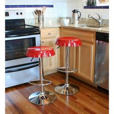 There is no kitchen or home bar which can survive without some comfortable bar stools. High stools could be perfect desicion for kitchen or dining room. Today we would like to pay your attention on retro bar stools, as they offer not only seating, and functionality, but as well style to your place. via: amazon If you have an open living, dining and kitchen area, with bar centrally located...