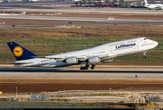 Brand New Lufthansa Boeing 747-830 just seconds from touchdown in Tel Aviv. Stunning photo of this giant bird by Itay Tsin