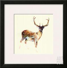 Deer Wearing Gym Socks Framed Art Print by Charmaine Olivia at Art.com
