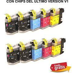 10 x Cartuchos Compatibles para Brother Lc121 Lc123 XL ALTA CAPACIDAD ULTIMO VERSION DE CHIPS LC123 con Brother DCP-J132w , DCP-J152W , DCP-J552DW , DCP-J752DW , DCP-J4110dw , MFC-J470DW , MFC-J650DW , MFC-J870DW , MFC-J4410dw , MFC-J4510dw , MFC-J4610dw , MFC-J4710dw , MFC-J6520 , MFC-J6720dw , MFC- J6920DW -Brama Cartuchos -Empresa Española Bramacartuchos http://www.amazon.es/dp/B00TU8BUOI/ref=cm_sw_r_pi_dp_A8V6ub0M4GX03