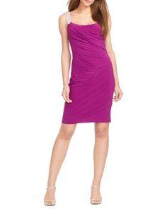 Lauren Ralph Lauren Dress - Sleeveless Beaded Jersey | Bloomingdale's
