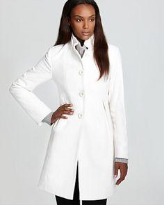white womens winter coat | White Women's Winter Wool Coats ...