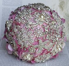 Luxury Vintage Bridal Brooch Bouquet Pearl by LXdesigns on Etsy