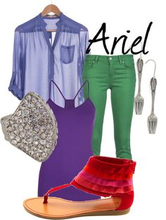 Create this look with any of these colors, and your Ariel inspired look is complete!