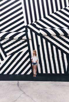 Massive stripes! wynwood art district // smitten studio