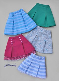 Pleated Bell Skirt Pattern for Ellowyne Wilde and Friends image 1 Frock Design, Baby Dress Design, Kids Dress Wear, Dresses Kids Girl, Kids Outfits, Baby Frocks Designs, Kids Frocks Design, Girls Skirt Patterns, Sewing Patterns