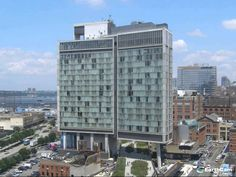 Construction Time-lapse of The Standard, a boutique hotel above the High Line Park in the Meatpacking District of New York City.