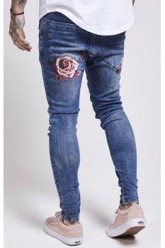 632c8ebdf66 SikSilk Floral Spring Hareem Jeans – Midstone Denim T Shirt