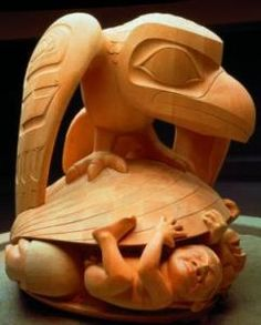 Raven and the First Men by Bill Reid. This sculpture is amazing, and sits in the University of British Columbia Museum of Anthropology. American Indian Art, Native American Art, Bill Reid, Creation Myth, Haida Art, Indigenous Art, Canadian Artists, Native Art, First Nations