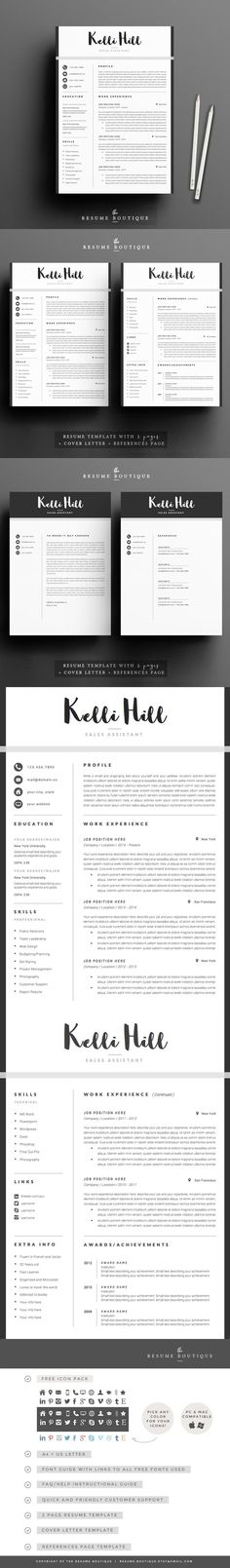 Professional Resume  Cv Template  Resume Resume Design And