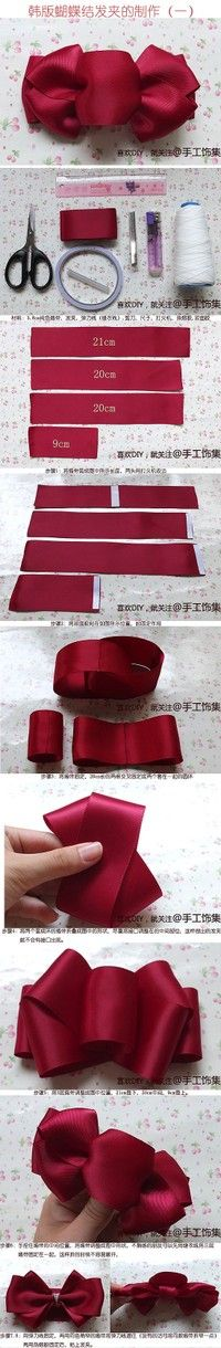 Ribbon Bow hair clip_kornnaphar图片专辑-堆糖网