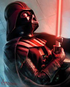 Just Vader by Mabiruna on DeviantArt Anakin Vader, Vader Star Wars, Anakin Skywalker, Star Wars Film, Star Wars Art, Darth Vader Poster, Star Wars Poster, Mars Attacks, King Kong