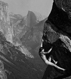 rock climbing naked Nude