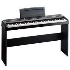 Korg SPST1 Wooden Keyboard Stand for SP170 (Black), Made to Fit The SP170 Keyboard, Wood Construction, H-Shape Stand from Stability, The SPST1 Wooden Keyboard Stand Black from Korg provides the SP170 keyboard with ample support. With a solid H-shape construction the keyboard stand provides a firm sturdy foundation. This wood piece is an elegant non-portable design.