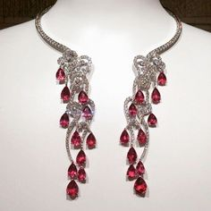 Admire the beauty of this stunning  new necklace masterfully created by @giampierobodino, showcased at the Ritz Paris. The unique piece featuring rubies and diamonds can be detached and worn  as earrings pendants.
