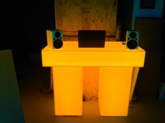 illuminated DJ Booth's by www.GoodLifeDESIGNGROUP.com 1-866-994-6635