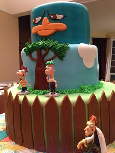 Malisa Carlson's Phineas and Ferb cake, freaking awesome! Love her!