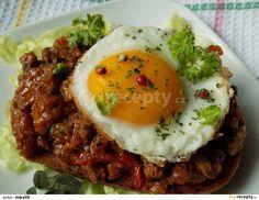 Hamburger, Eggs, Breakfast, Ethnic Recipes, Morning Coffee, Egg, Burgers, Egg As Food