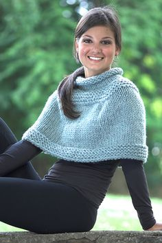 1952 Womens Capelets pattern by Plymouth Yarn Design Studio Ravelry: Eyelet and Plain Capelets: Plain Version pattern by Vanessa Ewing The post 1952 Womens Capelets pattern by Plymouth Yarn Design Studio appeared first on Design Ideas. Poncho Crochet, Knitted Capelet, Knit Or Crochet, Capelet Knitting Pattern, Crochet Scarves, Loom Knitting, Knitting Patterns Free, Knit Patterns, Free Knitting