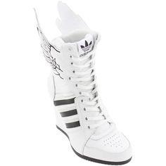 sports shoes 3dddc abc80 Adidas Women ObyO JS Wings Wedge High - Jeremy Scott (runninwhite   black    runninwhite