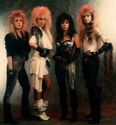80's fashion for women rockers